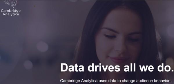 Sito di Cambridge Analytica